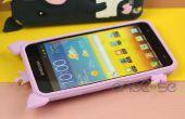Niedlichen 3D Cartoon Schwein Silicone Case für Samsung Galaxy Note i9220