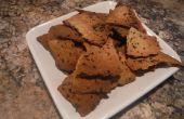 Gerösteter Knoblauch und Kräuter Cracker