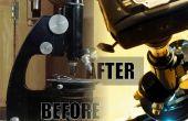 Wiederbelebung einer alten Mikroskop: gründliche Reinigung, neue Lichtquelle (mit Sperrholz) und Kamera-Adapter