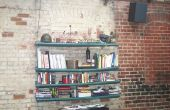 Bücherregal aus Karton Röhren hängen