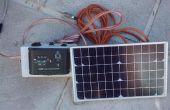 Kleiner 12V Batterie Solarenergie aufladen Rig für Wohnwagen oder Wohnmobil