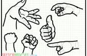Gewusst wie: zeichnen Sie Hands70