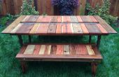 Zurückgefordert Holz flach-verpacken Sie Picknick Tisch mit Übertopf/EISTROG