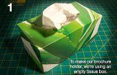 DIY: Machen Sie Ihre eigene Prospektständer von einen Gewebekasten