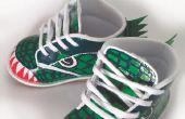 DIY-Dinosaurier Schuhe