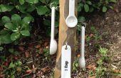Messung der Löffel Rack aus recyceltem Holz