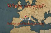 Wo bist du? Folge deinen Freunden mit einer Design-Karte