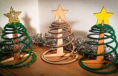 Einfach drei Stück Flachgehäuse Weihnachtsbaum