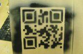 Lasercut-QR-Code-Schablone.