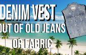 Wie erstelle ich Jeansweste aus alten Jeans Schritt für Schritt Video