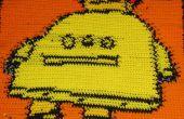 Robo-Decke: Häkeln einer Decke mit einem Kreuzstich-Muster.