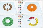 Tinkercad: Einfach zu Kreis Array