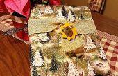 Weihnachten-Advent-Buch (ohne Nähen) bedeckt