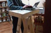 Schüler Schreibtisch stehen