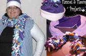 Ein Spaß-Flanell und Fleece Arm wärmer gesetzt mit A Super leicht Schal und Mütze