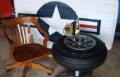 Tisch aus von einem 1940er Jahre Flugzeug-Rad
