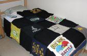 Wie erstelle ich einen Quilt aus alten t-Shirts