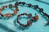Keltischer Knoten Makramee Armband