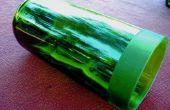 Faux geätzten Glas Wein Vase/Votiv Flaschenhalter