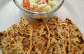 Lecker knusprige Punjabi Zwiebel Paratha / Brot Rezept