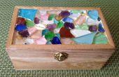 Meer-Glas-Mosaik Schmuck-Box