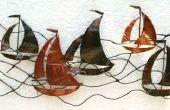 Metall-Wandkunst - Segelboote