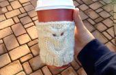 Eule Kaffee gemütlich stricken