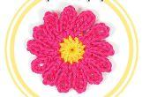 Gewusst wie: eine zwölf Blütenblatt Blume häkeln