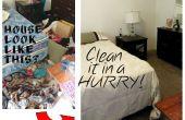 Reinigung ein unordentliches Haus (In Eile!)