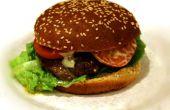 Buttrig Käse gefüllte Gourmet Hamburger