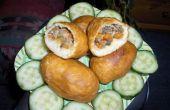 Pilze & Thunfisch gebratenes Brot