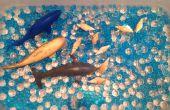 Unter dem Meer sensorische Bin verwenden Wasser Perlen