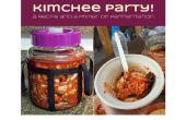 Kimchee Party! Ein Rezept und eine Grundierung auf Gärung