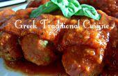 Die YiaYia Soutzoukia (griechisch '' Frikadellen '' in Tomatensauce) traditionelles griechisches Essen aber Vegan!