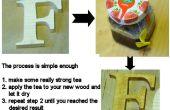 Beizen von Holz mit Tee