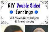 DIY-Double Sided Ohrringe mit Swarovski Crystal Post & aufgefächert Backing