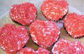 Machen Herz geformt Cupcakes ohne ein spezielles Pan