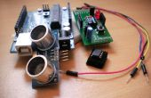 Ultraschall-Entfernungsmesser mit einem ATtiny85 (mit Schild)