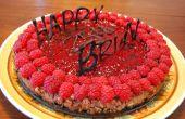 Schokoladen-Himbeer-Geburtstag-Käsekuchen