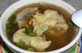 Huhn-Wonton-Suppe