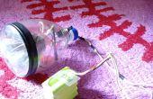 Wie man LED-Scheinwerfer für Fahrrad mit einer Flasche.