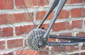 Ein Kohlefaser-Fahrradrahmen Reparatur