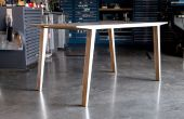 Windschatten Tabelle (Experimente in Aluminium und Sperrholz Laminierung)
