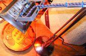 Heftige Anglepoise Rgb + Strobe Schreibtischlampe glänzend Silber Zukunft Retro-Punk-Party