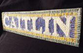Benutzerdefinierte NYC Subway Mosaik Namensschild