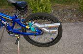 Machen Sie einen Schalldämpfer/Auspuff für Ihr Fahrrad.