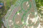 Wie man einen Runenstein schmücken Ihren Hof/Garten schnitzen