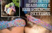 Curly Q Stirnband und Haaren Haargummis häkeln