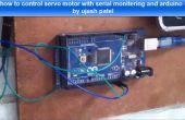 Servo-Motor mit Arduino und serielle Überwachungsfenster Steuern