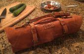 Leder Koch Messer Roll